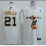 San Antonio Spurs #21 Tim Duncan White 2014 NBA Finals Champions Stitched NBA Jersey