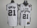 San Antonio Spurs #21 Tim Duncan White Latin Nights Stitched NBA Jersey