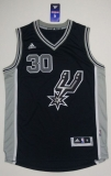 San Antonio Spurs #30 David West Black New Road Stitched NBA Jersey