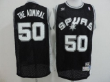 San Antonio Spurs #50 David Robinson Black The Admiral Nickname Stitched NBA Jersey