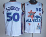 San Antonio Spurs #50 David Robinson White 1995 All Star Throwback Stitched NBA Jersey