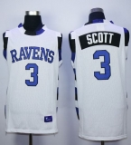 One Tree Hill Ravens #3 Lucas Scott White Stitched Basketball Jersey