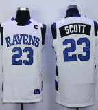One Tree Hill Ravens #23 Nathan Scott White Stitched Basketball Jersey