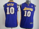 Revolution 30 Los Angeles Lakers #10 Steve Nash Purple Stitched Youth NBA Jersey