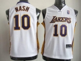 Revolution 30 Los Angeles Lakers #10 Steve Nash White Stitched Youth NBA Jersey