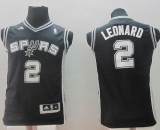 Revolution 30 San Antonio Spurs #2 Kawhi Leonard Black Youth Stitched NBA Jersey