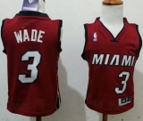 Toddler Miami Heat #3 Dwyane Wade Red Stitched NBA Jersey
