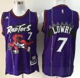 Toronto Raptors #7 Kyle Lowry Purple Throwback Youth Stitched NBA Jersey