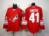 Arizona Coyotes #41 Mike Smith Red Home Stitched NHL Jersey