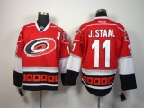 Carolina Hurricanes #11 Jordan Staal Red Home Stitched NHL Jersey