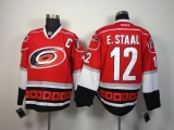 Carolina Hurricanes #12 Eric Staal Red Stitched NHL Jersey