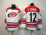 Carolina Hurricanes #12 Eric Staal White Stitched NHL Jersey