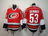 Carolina Hurricanes #53 Jeff Skinner Red Stitched NHL Jersey