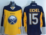 Buffalo Sabres #15 Jack Eichel Yellow Navy Blue Alternate Stitched NHL Jersey