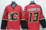 Calgary Flames #13 Johnny Gaudreau Red Stitched NHL Jersey
