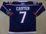 Columbus Blue Jackets #7 Jeff Carter Blue Home Stitched NHL Jersey