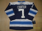 Columbus Blue Jackets #7 Jeff Carter Blue Third Stitched NHL Jersey