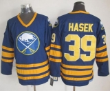 Buffalo Sabres #39 Dominik Hasek Navy Blue CCM Throwback Stitched NHL Jersey