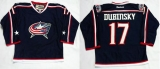 Columbus Blue Jackets #17 Brandon Dubinsky Navy Blue Home Stitched NHL Jersey
