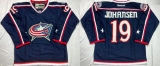 Columbus Blue Jackets #19 Ryan Johansen Navy Blue Home Stitched NHL Jersey