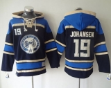 Columbus Blue Jackets #19 Ryan Johansen Navy Blue Sawyer Hooded Sweatshirt Stitched NHL Jersey