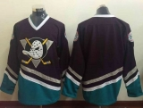 Anaheim Ducks Blank Purple Turquoise CCM Throwback Stitched NHL Jersey