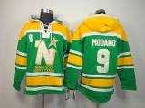Dallas Stars #9 Mike Modano Green Sawyer Hooded Sweatshirt Stitched NHL Jersey