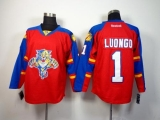 Florida Panthers #1 Roberto Luongo Red Home Stitched NHL Jersey