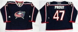 Columbus Blue Jackets #47 Dalton Prout Navy Blue Home Stitched NHL Jersey