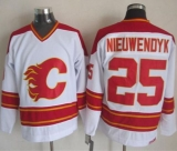 Calgary Flames #25 Joe Nieuwendyk White CCM Throwback Stitched NHL Jersey