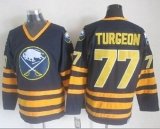 Buffalo Sabres #77 Pierre Turgeon Navy Blue CCM Throwback Stitched NHL Jersey