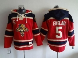 Florida Panthers #5 Aaron Ekblad Red Sawyer Hooded Sweatshirt Stitched NHL Jersey