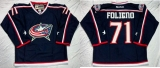 Columbus Blue Jackets #71 Nick Foligno Navy Blue Home Stitched NHL Jersey