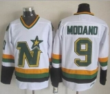 Dallas Stars #9 Mike Modano Stitched White CCM Throwback NHL Jersey