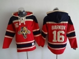 Florida Panthers #16 Aleksander Barkov Red Sawyer Hooded Sweatshirt Stitched NHL Jersey