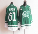 Columbus Blue Jackets St Patty\'s Day #61 Rick Nash Green Stitched NHL Jersey