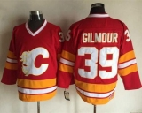 Calgary Flames #39 Doug Gilmour Red CCM Throwback Stitched NHL Jersey