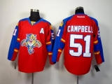 Florida Panthers #51 Brian Campbell Red Home Stitched NHL Jersey
