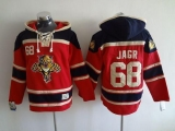 Florida Panthers #68 Jaromir Jagr Red Sawyer Hooded Sweatshirt Stitched NHL Jersey