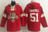 Panthers #51 Brian Campbell Red Pullover NHL Hoodie