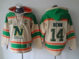 Dallas Stars #14 Jamie Benn Cream Sawyer Hooded Sweatshirt Stitched NHL Jersey