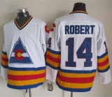 Colorado Avalanche #14 Rene Robert White CCM Throwback Stitched NHL Jersey