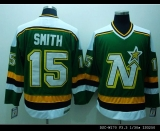Dallas Stars #15 Bobby Smith Stitched Green CCM Throwback NHL Jersey