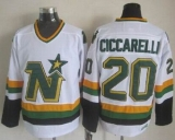 Dallas Stars #20 Dino Ciccarelli White CCM Throwback Stitched NHL Jersey
