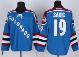 Colorado Avalanche #19 Joe Sakic Stitched Blue Third NHL Jersey
