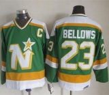 Dallas Stars #23 Brian Bellows Stitched Green CCM Throwback NHL Jersey