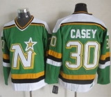 Dallas Stars #30 Jon Casey Green CCM Throwback Stitched NHL Jersey