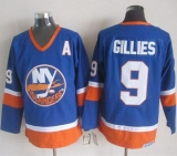 New York Islanders #9 Clark Gillies Baby Blue CCM Throwback Stitched NHL Jersey