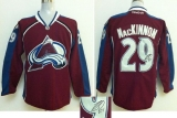 Colorado Avalanche #29 Nathan MacKinnon Red Autographed Stitched NHL Jersey