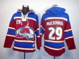 Colorado Avalanche #29 Nathan MacKinnon Red Sawyer Hooded Sweatshirt Stitched NHL Jersey